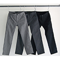 CTN/WOOL TWILL NO-P TAPERED PANTS
