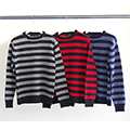 7G WOOL BOADER PULL OVER KNIT L/S