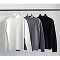 7G WOOL TURTLE NECK KNIT L/S