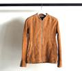 GOAT SUEDE LEATHER ZIP SHIRTS BLOUSON