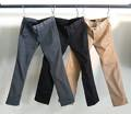 WASHED T/C STRETCH TWILL TIGHT CHINO PANTS