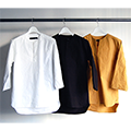 CTN/LI DAMP V/N PULL OVER SHIRTS 8SL