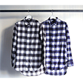SHADOW CHECK F/F LONG SHIRTS L/S