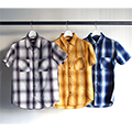 CTN/TEN OMBRE CHECK WORK PKT SHIRTS S/S