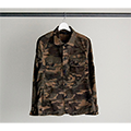 SULFUR STRETCH CAMO FATIGUE SHIRTS JKT