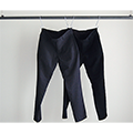 STRETCH WOOL TROPICAL TAPERED NO-P PANTS