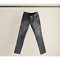 NO.55 SUPER SKINNY STRETCH FADE BLACK DENIM