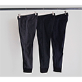 STRETCH WOOL TROPICAL TAPERED RIB PANTS