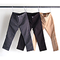 T/C TWILL STRETCH TAPERED CROPPED 9L PANTS