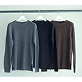 5G CTN AZE RIB PULL OVER KNIT