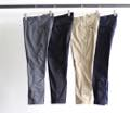 T/C LIGHT TWILL STRETCH CROPPED TAPERED PANTS