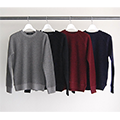 WOOL WAFFLE PULL OVER L/S