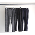 WOOL CHOKE STRIPE TAPERED PANTS