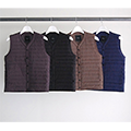 NYLON HYBRID PACKABLE DOWN VEST