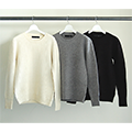 5G LAMB WOOL AZE RIB PULL OVER KNIT L/S