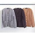 WOOL MOHAIR BASIC CARDIGAN