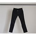 STRETCH SUPER SKINY ANKLE CUT DAMAGE BLACK DENIM