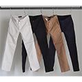 WASHED STRETCH TWILL SKINY CHINO PANTS