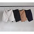 WASHED STRETCH TWILL CHINO SHORTS