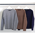7G LAMB WOOL RIB PULL OVER KNIT L/S