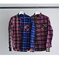 STRETCH FLANNEL CRAZY PATTERN STANDARD SHIRTS