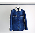 SHAVING DENIM LINING QUILTING SHIRTS JKT