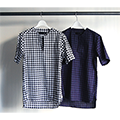 OX FORD BLOCK CHECK V/N PULL OVER SHIRTS S/S