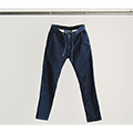 COOL MAX WASHED DENIM SHIRRING PANTS