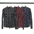 CTN/RY OMBRE CHK PATCH & FLAP SHIRTS
