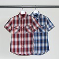 OMBRE CHK P&F S/S WORK SHIRTS