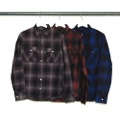 DARK OMBRE CHK MILITARY PKT SHIRTS