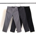 CTN/WOOL CANVAS ANKLE LENGTH PANTS
