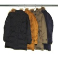 NYLON STAND HOOD DOWN COAT