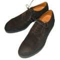 OILED VELOUR PLANE TOE RUBBER SOLE