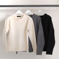 5G WOOL CABLE PULL OVER KNIT