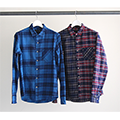 FLANNEL CHK CRAZY PATTERN SHIRTS