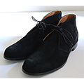 OILED VELOUR  LEATHER CHUKKA BOOTS