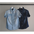 4.5OZ SHAVING DENIM SHIRT S/S