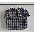 CTN/TEN SHIRRING CHK P&F SHIRT S/S