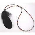 Magine×idealism sound FEATHER NECKLACE