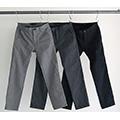 CTN/WOOL TWILL NO-P TAPERED PANTS
