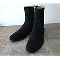 COW SUEDE LEATHER SIDE ZIP PECOS BOOTS