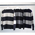 5G WOOL WIDE BOADER PULL OVER KNIT L/S