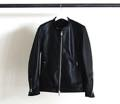 SHEEP LEATHER STAND COLLAR SINGLE RIDERS JKT