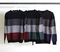 7G WOOL MOHAIR GRADATION BOADER PULL OVER KNIT