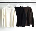 5G LAMB WOOL SINGLE AZE RIB PULL OVER KNIT