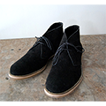 COW SUEDE LEATHER CHUKKA BOOTS