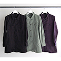 CTN/LI BACKSATIN FATIGUE LONG SHIRTS