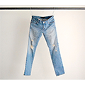 NO.55 SUPER SKINNY STRETCH CRASH DENIM