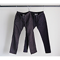 SWEAT LIKE DENIM PIN STRIPE SHIRRING PANTS